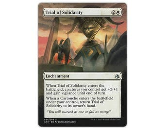Hand Painted Altered MTG Trial of Solidarity Border Extension