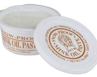 Fiebings Snow-Proof Paste for leather care and waterproofing with mink oil