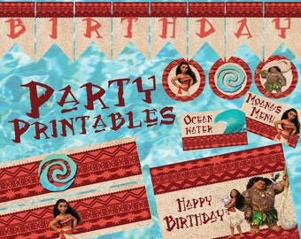 Moana Inspired Luau Party Printables