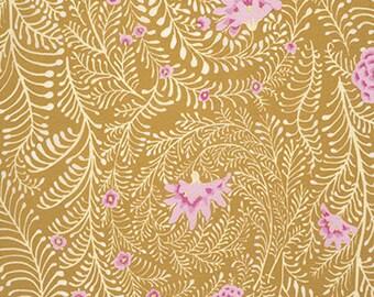 Free Spirit - Kaffe Fassett  - Fern  GP147 Yellow 100% Cotton Patchwork Quilting Fabric  per half metre (0.5m)