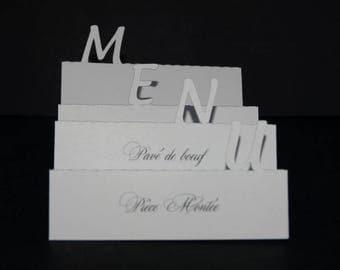 Petite white simple accordion card