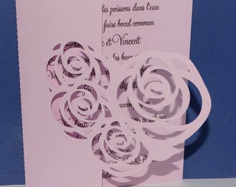 Do share wedding heart filled with rose