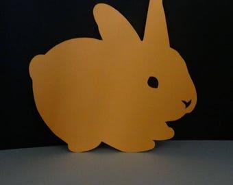 medium lying Bunny cutout