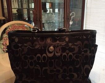 Large Authentic Vintage Coach Bag