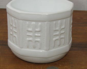 Mid century milk glass planter