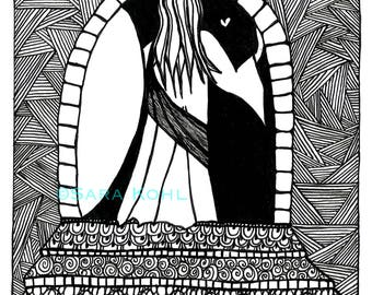 Jesus Zentangle Print