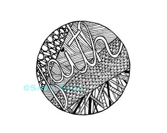 Faith Zentangle Print