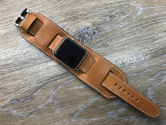Apple Watch Cuff Band, Apple Watch Band 42mm, Apple Watch Strap, Brown Cuff Watch Band, iwatch, Handmade Cuff Watch Strap For Apple Watch