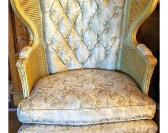 Vintage French Provincial Wingback Chair