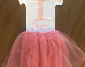 Girl's First Birthday | Custom | Number One | Custom Name
