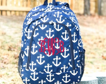 4Colors- Anchor Backpack, Diaper Backpack, Monogrammed Backpack, Navy Backpack, Turquoise backpack, Girl Backpacks, Boy Backpack, Nautical