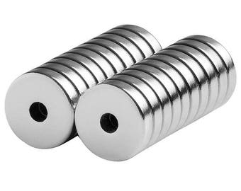 1/2 x 1/8 x 1/8 (0.5 x 0.125 x 0.125) Inch Neodymium Rare Earth Ring/Donut Magnets N42 (20 Pack)