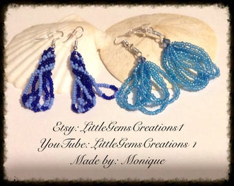 Beaded earrings fashion New Handmade