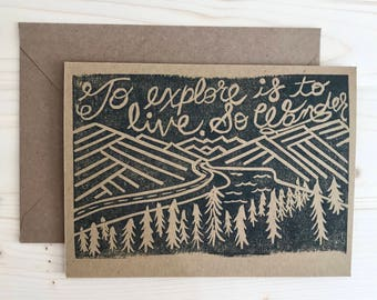 Wander to Live Greeting Card