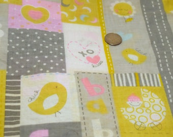 Clearance Fabric! ~ Chick Patchwork Baby Fabric ~ *Store Closing Sale*