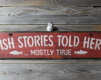 wooden sign, wood sign, hand painted,fish,fishermen,fish sign,gift for fisherman,rustic sign,gift idea,funny sign