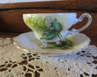 Lily of the Valley Handpainted China Cup and Saucer