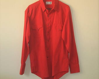 Vintage Roebucks Pearl Snap Western Shirt USA Size Large