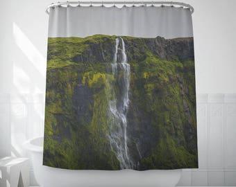 Falling Water Bath Decor, Iceland Photography, Home Shower Curtains, Bath Accessories, Shower Curtain Sets, Decorative Bathroom