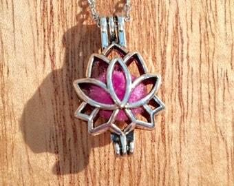Lotus Flower Aromatherapy Necklace