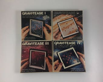 Vintage Space Age Gravi-tease Water Puzzles Toy