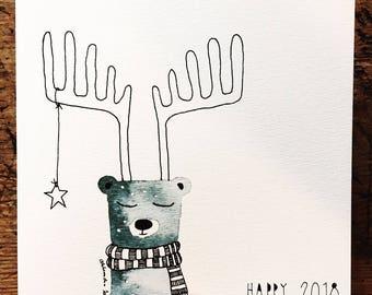 Greeting card - deer