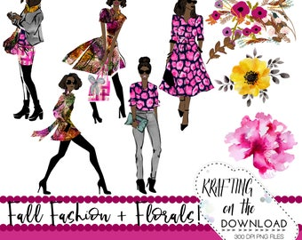 fall fashion clipart png file watercolor fall fashion clip art set watercolor fall fashion african american planner girl png fashion clipart