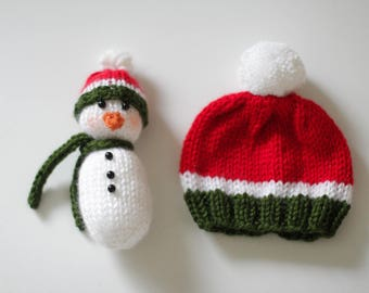 SALE hat and snowman set