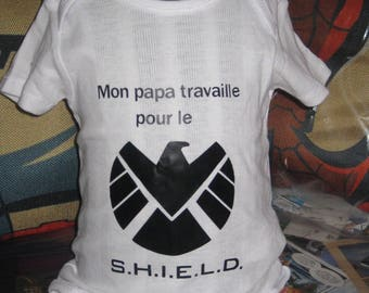 bodie marvel SHIELD comics geek baby Bodysuit