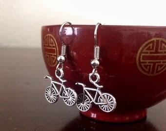 Bike Charm Earrings/Female Cyclist Gift/Bike Jewelry/Bicycle Earrings