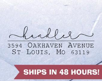 Personalized Address Stamp, Handler Script Stamp, Custom Return Address Stamp, Self Inking Stamps