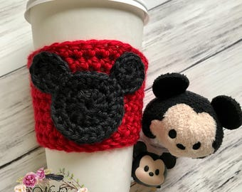 "The ""Original Mickey"" Cozie / Cozies / Coffee Cozie / Tea Cozie / Tumbler Cozie / Crochet Cozie"