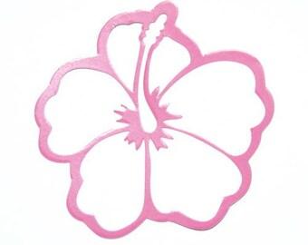 Hibiscus - fuchsia pink patch applique