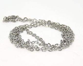 Stainless steel chain silver 80cm
