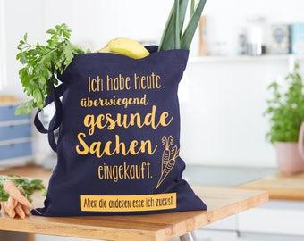 Shopping bag, bag, blue, yellow print, healthy, cotton bag, jute bag, tote bag, shopping bag, funny bag, organic