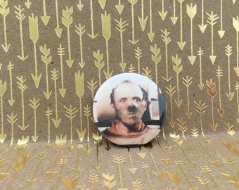 Hannibal Lecter, 1.5 inch pin back button, 37 mm  pin back button