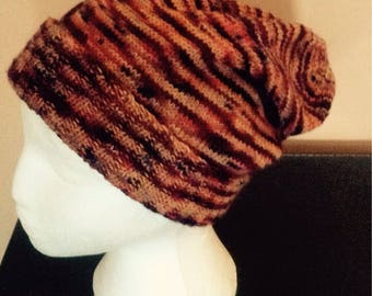 Hand Knit Slouchy Sock Hat