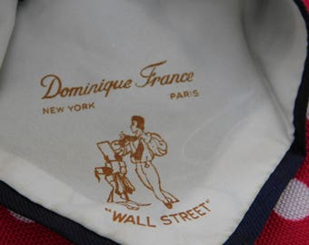 Vintage 50s Skinny Tie Wall Street Novelty Necktie Dominique France New York Necktie Wall Street Ticker Tape Tie 1950s Tie