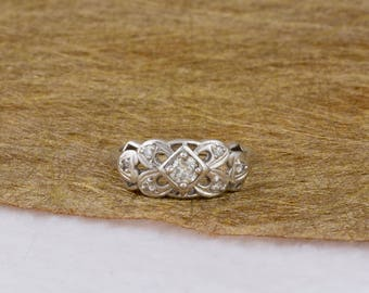 Art Nouveau Vintage Diamond Filigree Ring