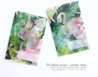 Vellum TN Traveler Notebook Covers / Planner Dashboards : Summer Vibes