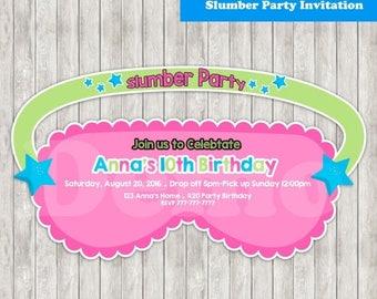 50%Off Slumber Party Invitation-Pajama Party-Invitation Slumber-Pajama Birthday-Pajama Invite-printable-Pajama girl-Invitation Slumber