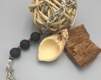 Silver Lava Stone Diffuser bracelet.