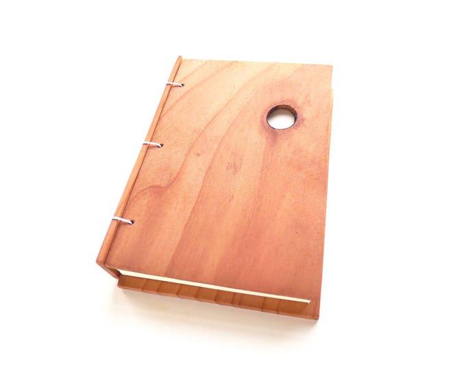 Featured listing image: Redwood Journal Wooden Notebook Wood Guestbook Gratitude Journal Wood Journal Engraved Notebook Wooden Sketchbook Custom Travel Journal