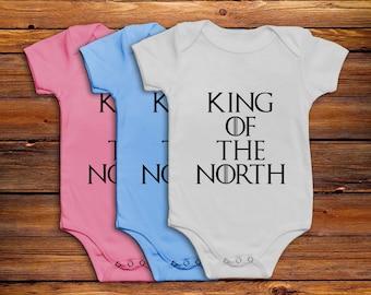 Game of Thrones Babygrow Vest Baby Onesie Bodysuit Romper -King of the North