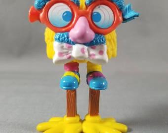 80's Toy ~ McFry Guys ~ Yellow McFry Girl ~ Stilts ~ Glasses ~McDonald's ~Happy Meal ~Interchangeable Legs ~ Cake Topper ~ My Nostalgic Life
