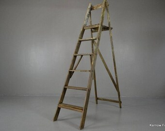 Large Vintage Wooden Ladder