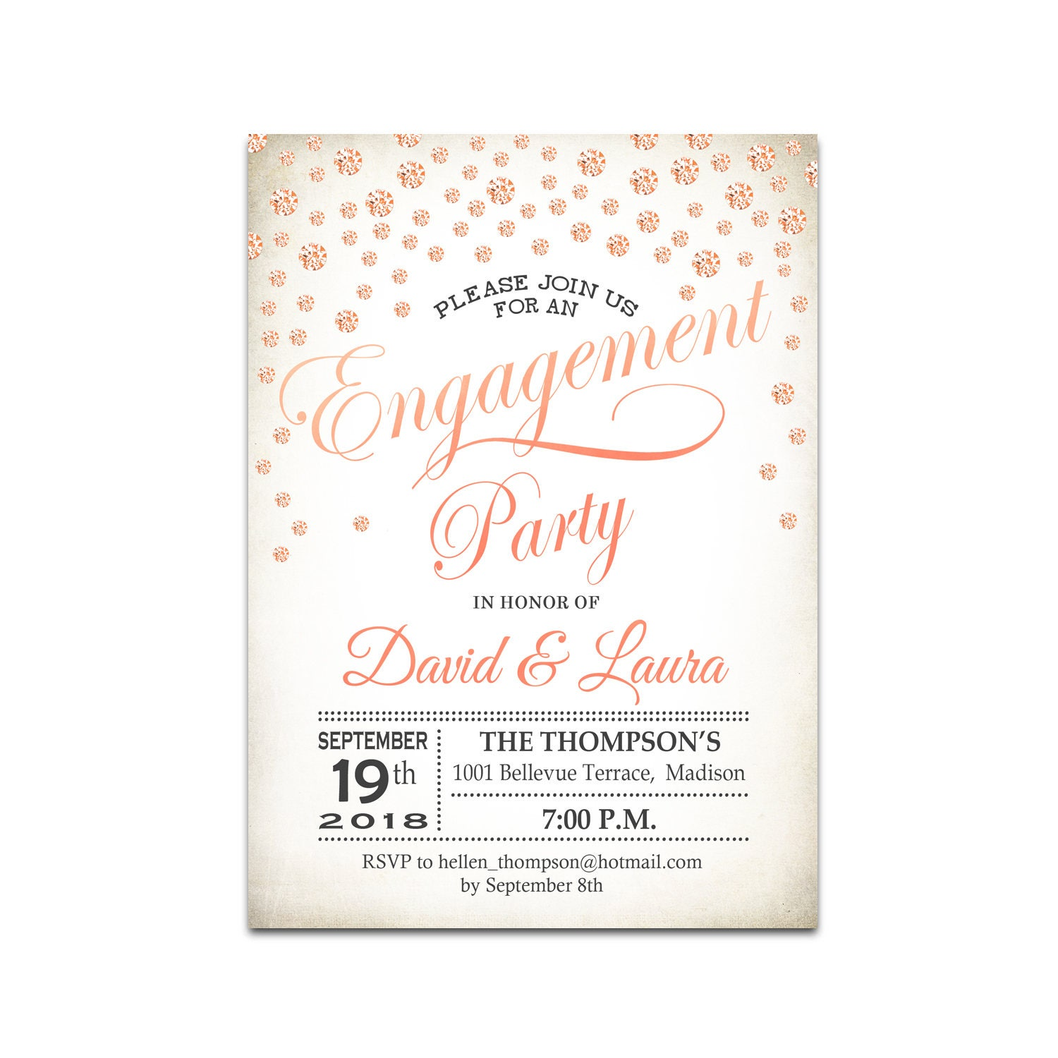 Engagement Party Invitation / Engagement Dinner Invite / Printable ...