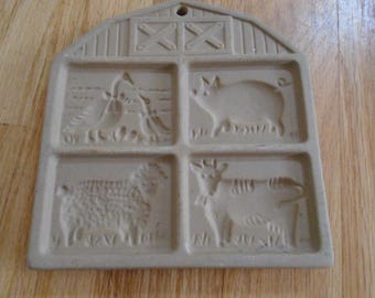 Pampered Chef Farmyard Friends  cookie mold 1994