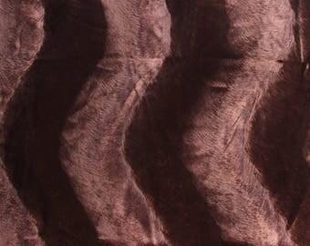 Coupon fausse fourrure marron : 80 cm x 150 cm (t 04)