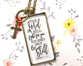 PREORDER Exodus 14:14 Adoption fundraiser necklace